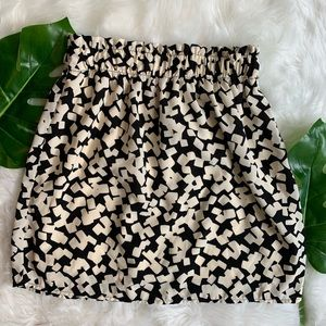 Harper | Black and White Fit And Flare Mini Skirt
